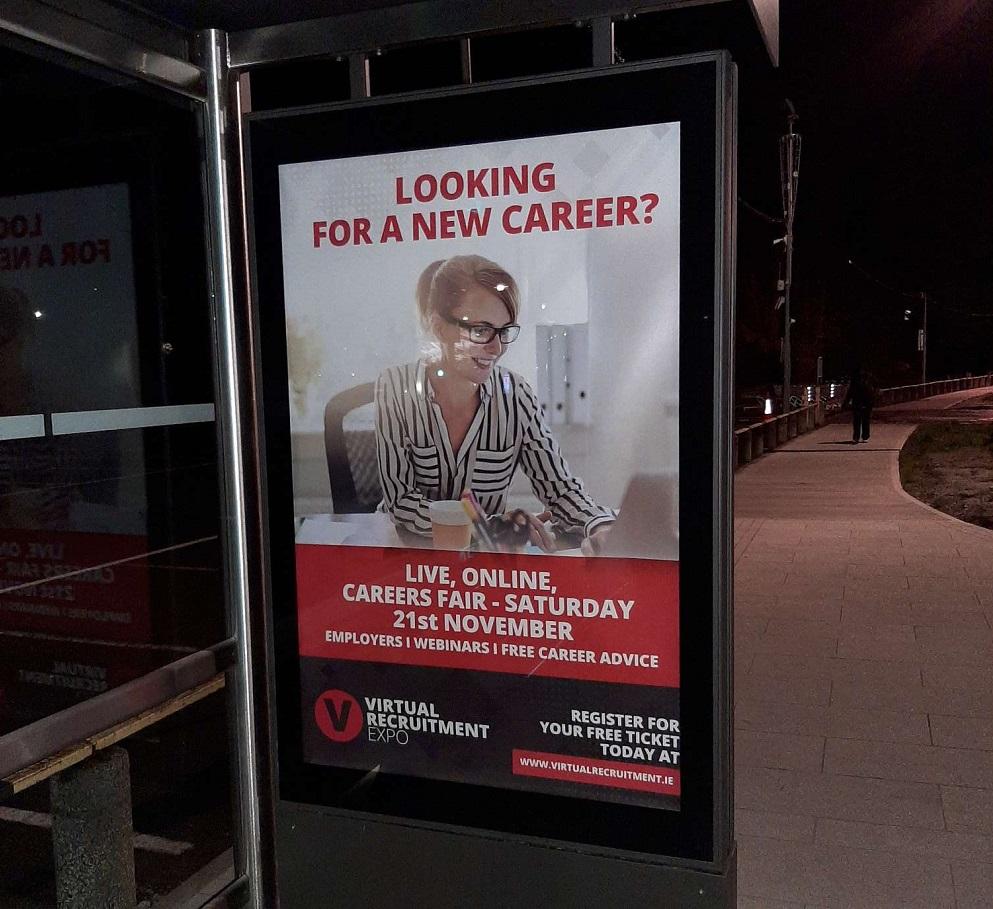 Virtual Recruitment Expo at a Bus Shelter Near You!