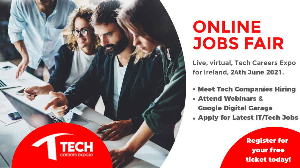 Tech Careers Expo – Online Event, 24th June, 2021
